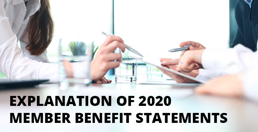 Explanation of 2020 member benefit statements