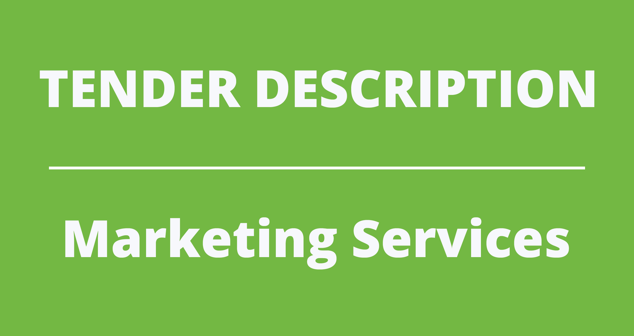 REQUEST FOR PROPOSAL – Marketing Services